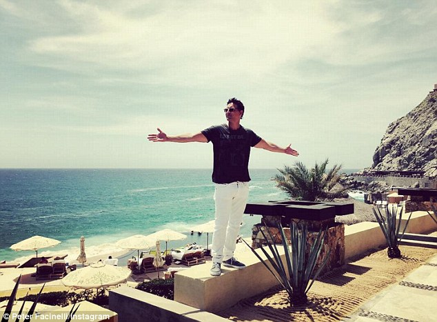 The actor's Mexican holiday appeared to be a sponsored trip, as he gave a shoutout to a Cabo San Lucas resort