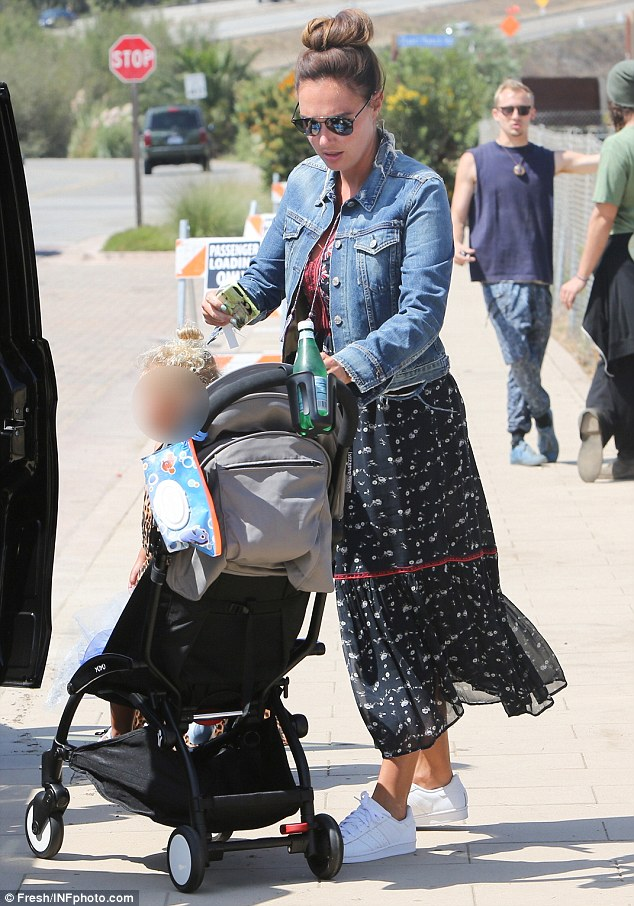 Boho chic: Tamara, the eldest of Bernie's two daughters with ex-wife Slavica, rocked a relaxed bohemian look as she enjoyed a day out with her two-year-old daughter Sophia