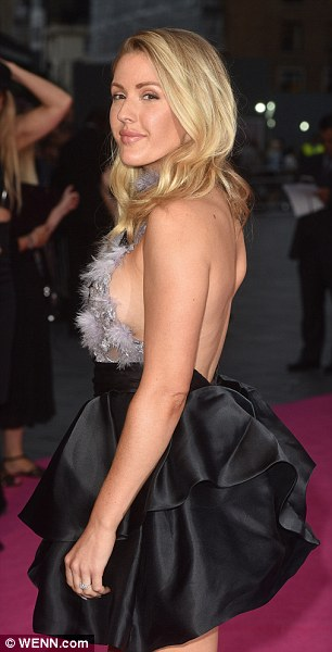Natural: Going for defined eyebrows, highlighter and bronzer, Ellie added a generous dab of lipgloss to her plump lips