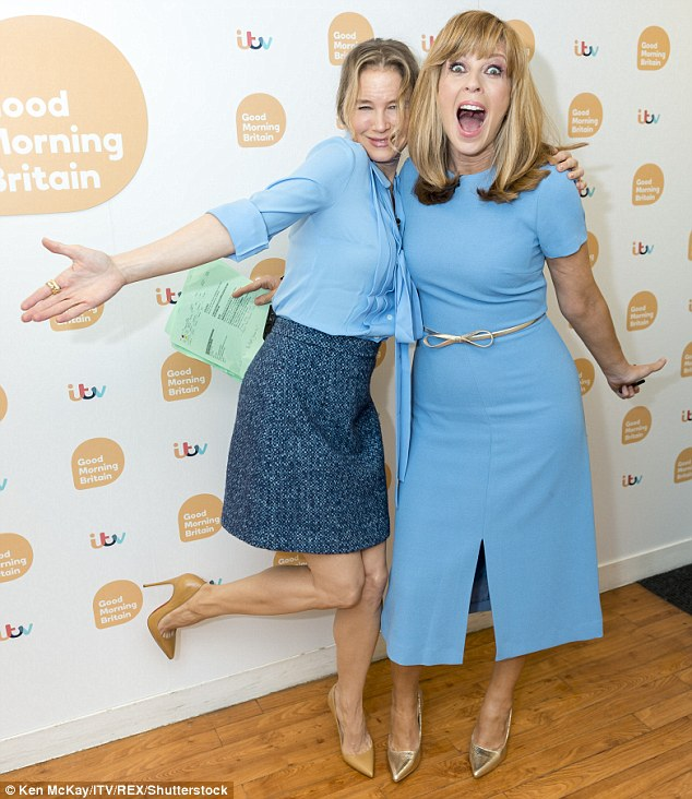Exciting! Joining Kate Garraway in the Good Moring Britain gallery on Monday ahead of the premiere of the third movie in the franchise, Renee described parenthood as 'an adventure'