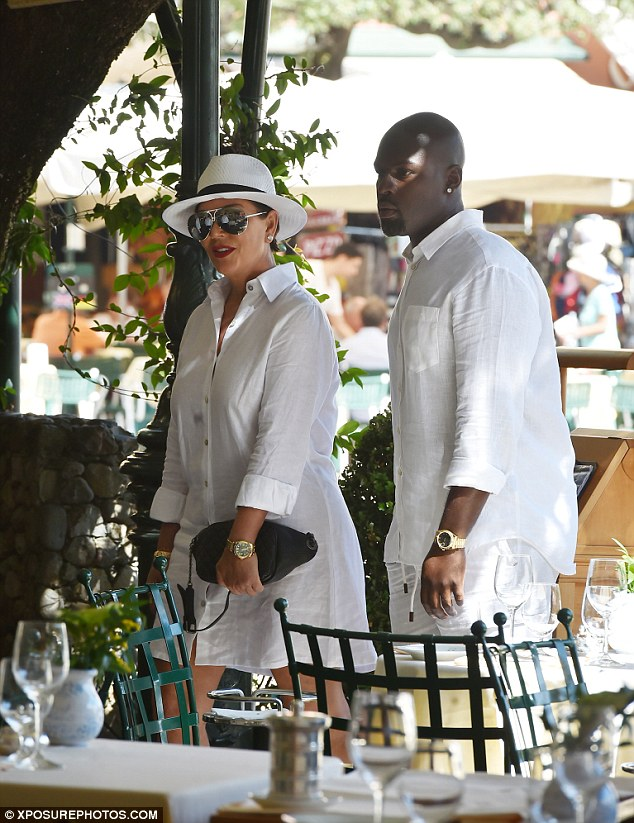 Stunner:The 60-year-old Kardashian matriarch, who was joined by her daughter Kourtney and granddaughter Penelope, wowed in a breezy white shirt dress while her handsome beau, 35, wore a near-identical linen top with matching trousers