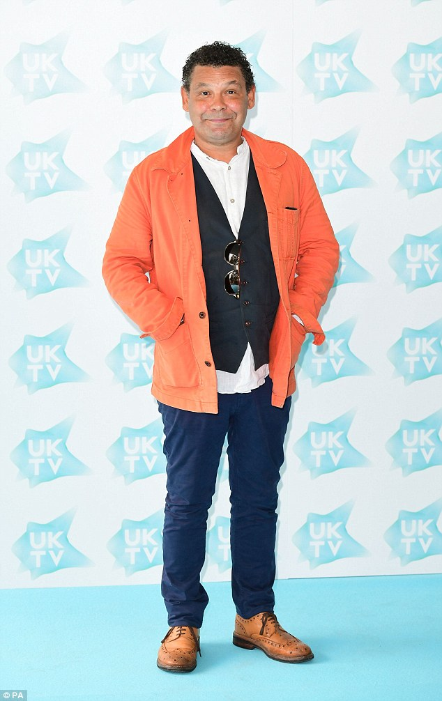 Legend: Comedy favourite Craig Charles looked dressed down at the bash