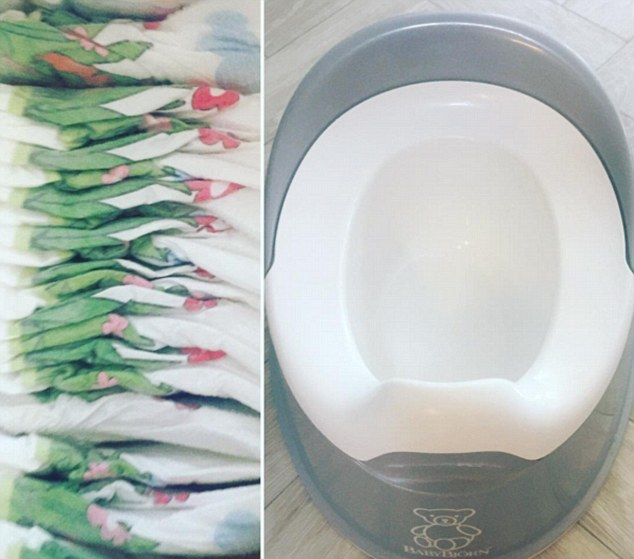 Goodbye nappies, hello potties: Willoughby posted this image on Instagram as she shared her excitement at her one-year-old son Chester grasping potty training