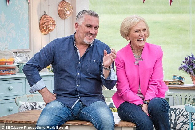 Success:In the absence of co-presenter Paul Hollywood, Mary was on hand to personally collect the honour on behalf of the hugely successful BBC show.