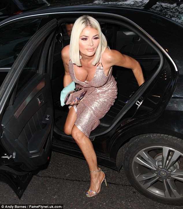 Aver your eyes!The dress' wrap style meant Chloe had to remain alert at all times, as she risked another malfunction while exiting a car