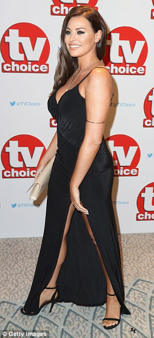 Sophisticated:Jessica Wright, who quit TOWIE in February alongside Ferne after five years on the show was also present at the event, in a slinky black gown