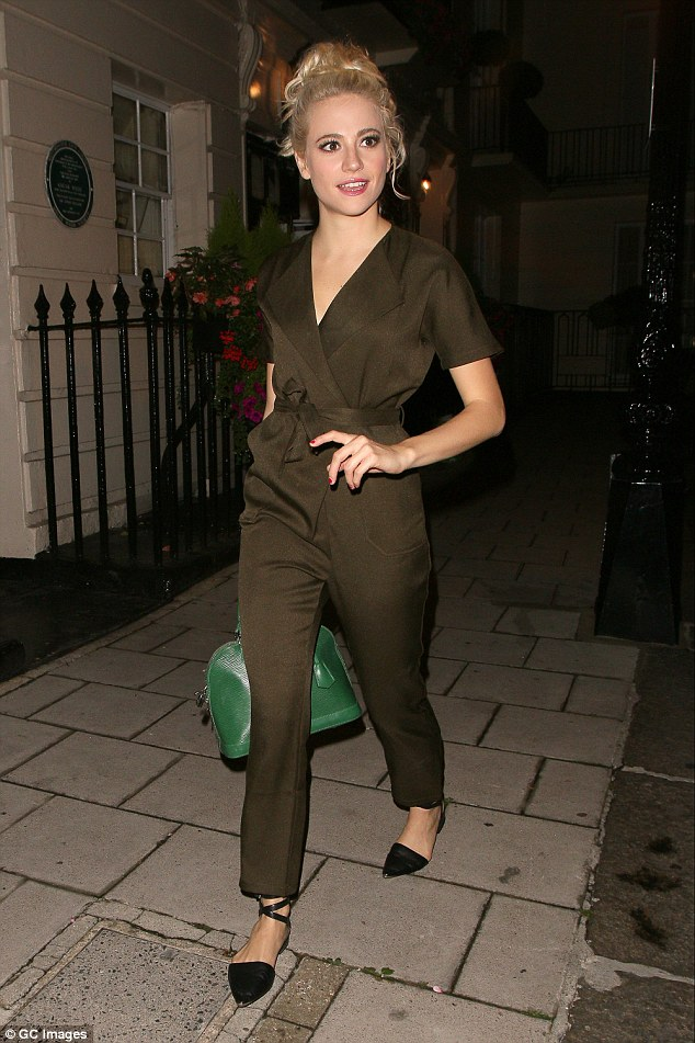Iconic:Pixie Lott is proving herself to be as iconic in the style stakes as Audrey Hepburn as she once again enjoyed a fashion triumph when leaving the Haymarket Theatre on Monday night