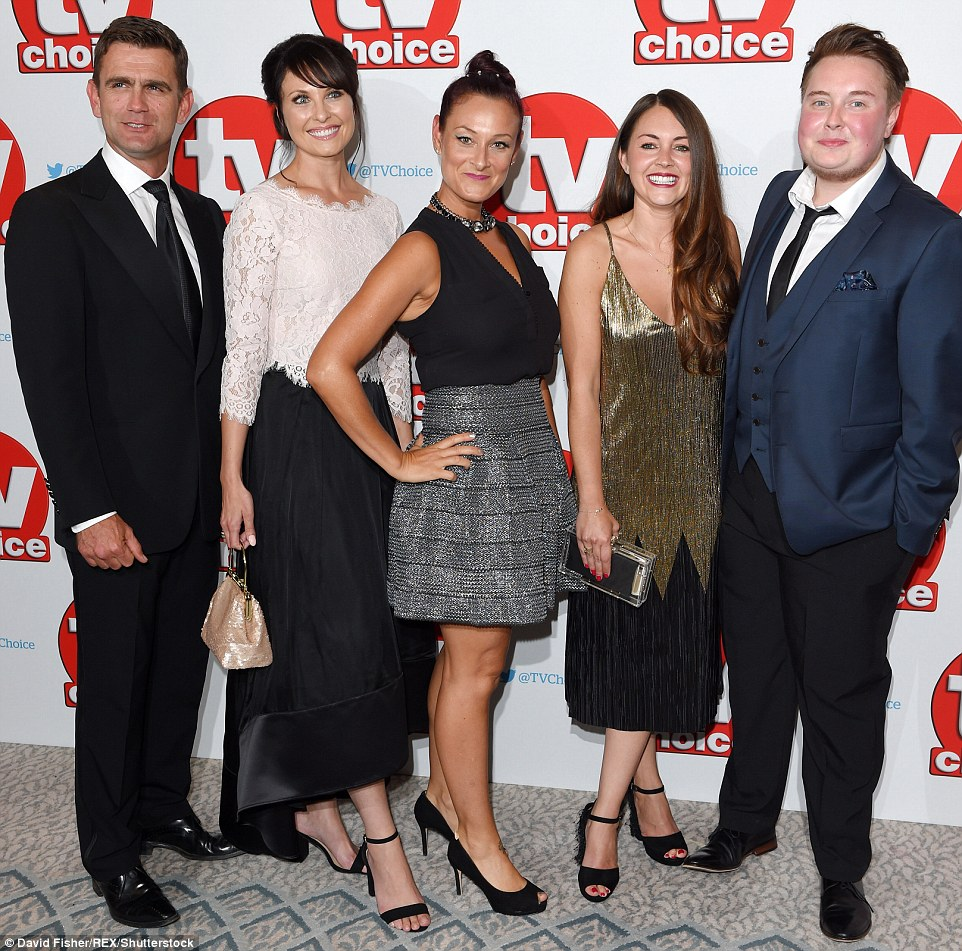 Walford comes to Mayfair: Scott Maslen, Emma Barton, Luisa Bradshaw-White and Lacey Turner (L-R) represented EastEnders at the awards