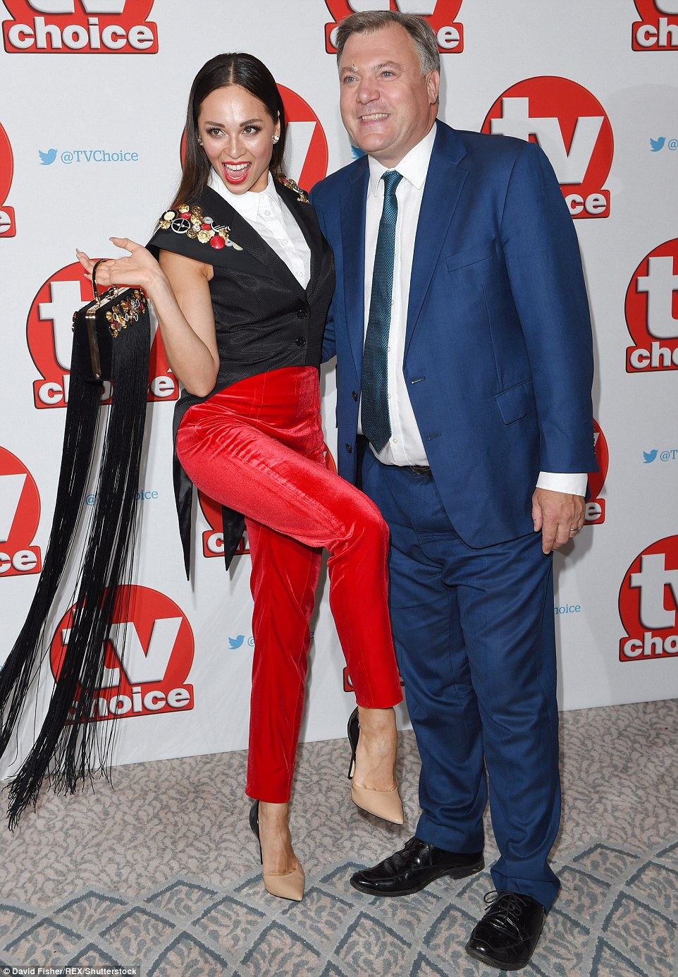 Glitter Balls:Strictly Come Dancing was represented at the awards by one of its most recent additions, former MP turned dancer Ed Balls and his professional partner Katya Jones