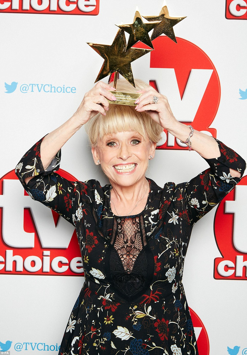 Babs is here! Barbara Windsor was in a jubilant mood at the event