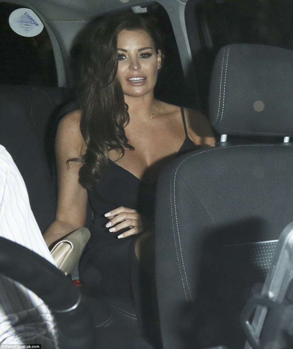 Good night? Jess closely followed the Made In Chelsea star out of the venue