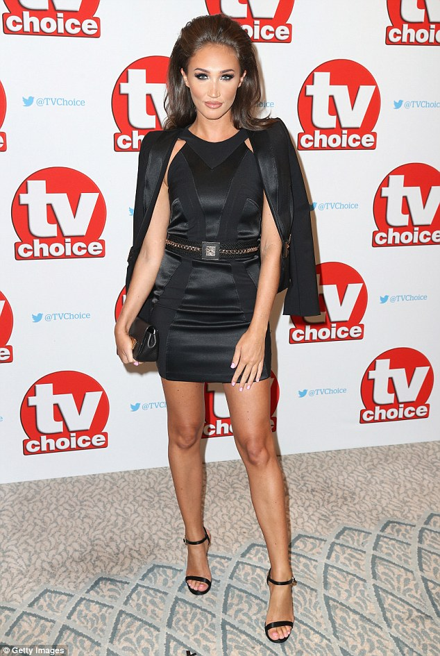 Turning heads: Megan McKenna and Pete Wicks made a bold fashion statement as they attended the TV Choice Awards in London on Monday
