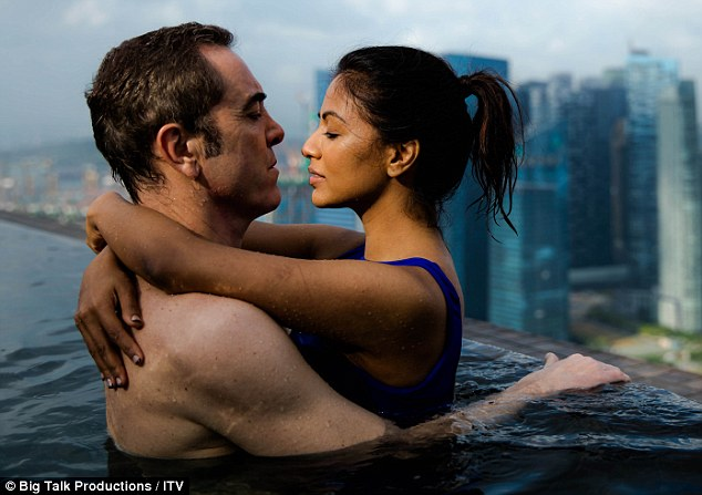 Moving on: James Nesbitt as Adam with his younger fiancee Angela in Cold Feet