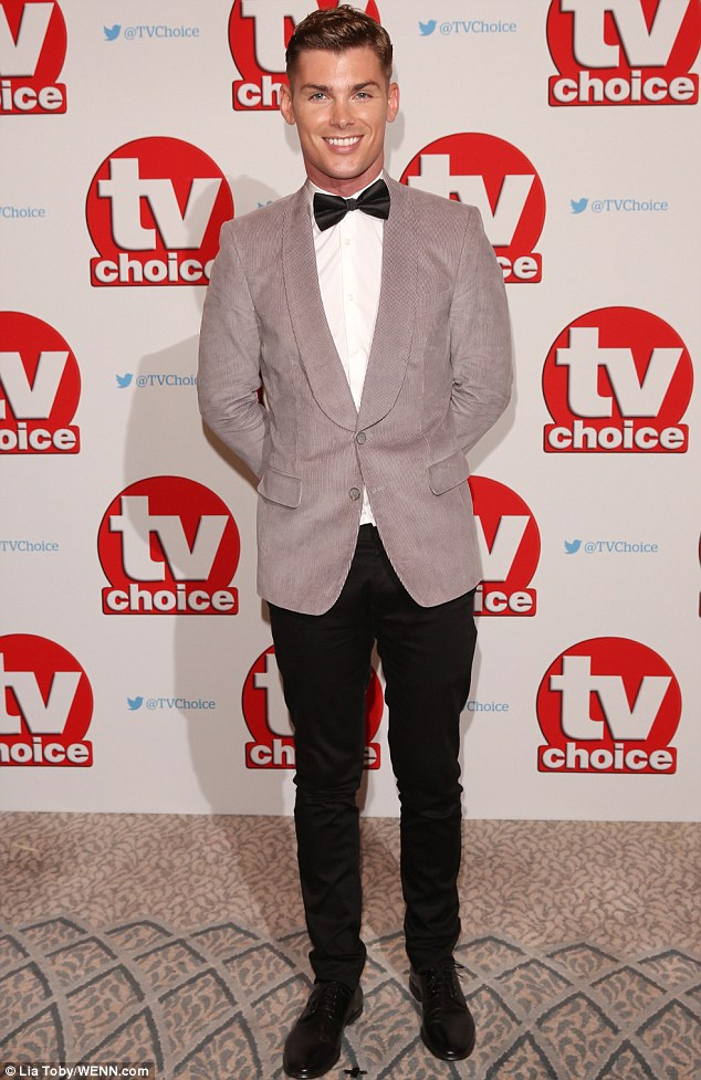 Doesn't he look handsome! Jennifer's co-star Kieron Richardson attended the bash in a jazzy grey co-ord suit jacket