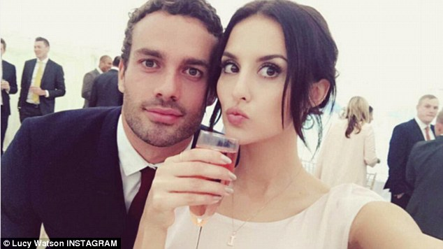 Is it you two next? The reality star looked thrilled to be included in her friend's wedding plans as she shared some sweet snaps - including one of her and boyfriend James