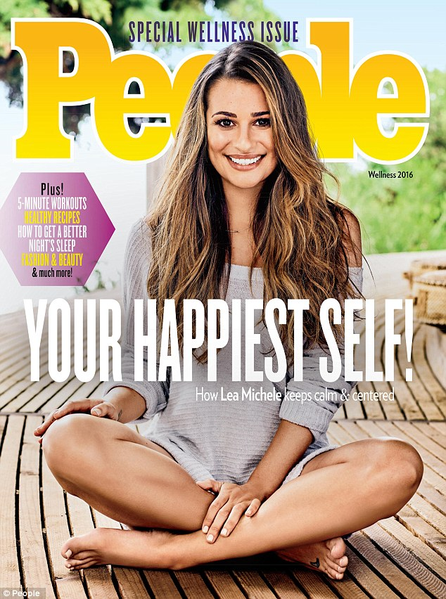 Talkin' body: Lea Michele posed for the cover of People magazine's Special Wellness Issue