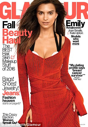 Two fab: Kate is only one of Glamour's three cover models for October. The others are Emily Ratajkowski and Joan Smalls