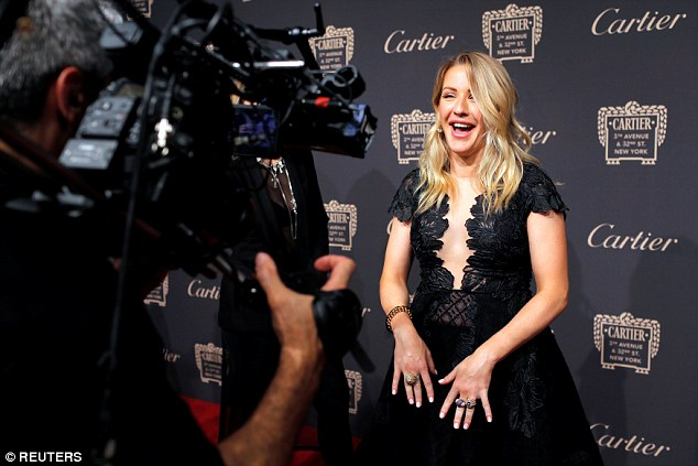 Speaking out: Ellie happily have interviews on the red carpet