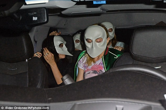 Show of unity: Rocco bonded with his sister Lourdes Leon and Madonna as they went to a performance of off-Broadway show Sleep No More wearing masks in keeping with its film noir theme
