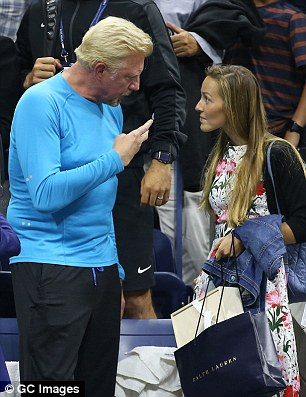 Another early exit: Jelena chats to Boris Becker