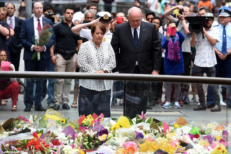 Governor-General Sir Peter Cosgrove and his wife Lynne also paid tribute