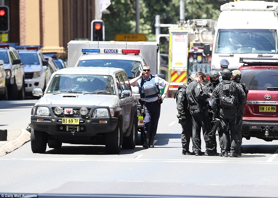 Emergency services shut down the area surrounding Martin Place as they continued the operation