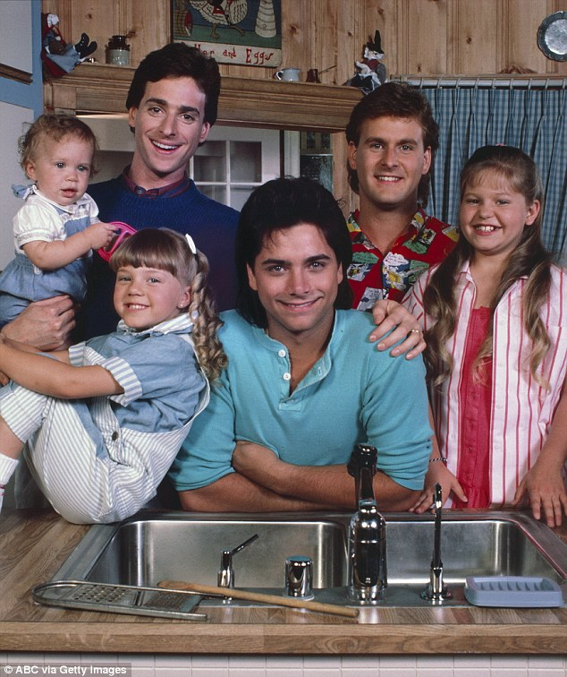 Sweetin, front left as a child, first found fame on the hit TV show Full House, where she played Stephanie Tanner