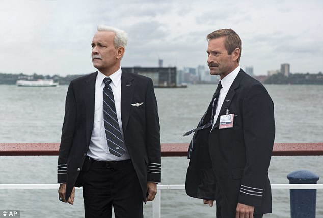 In the movie directed by Clint Eastwood, Hanks plays the pilot while 'Olympus Has Fallen' actor Aaron Eckhart plays his co-pilot Jeff Skiles