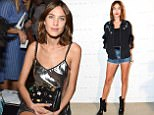 Mandatory Credit: Photo by Leandro Justen/BFA/REX/Shutterstock (5894685e)\nAlexa Chung\nNoon by Noor show, front row, Spring Summer 2017, New York Fashion Week, USA - 08 Sep 2016\n