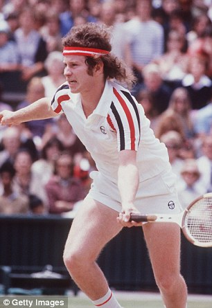 Icons: Swedish tennis icon Bjorn Borg and McRoe's (pictured) rivalry certainly did reach cinematic levels, with their 1980 Wimbledon final face-off widely considered to be one of the greatest tennis matches in history