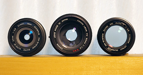 Three Lenses at f/2.8