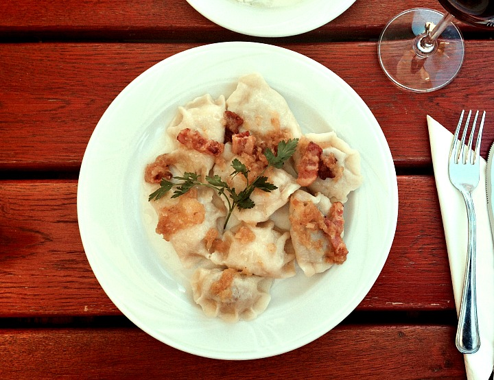 Pierogies from the Radio Cafe in Warsaw