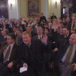 Sesja referendalna w N. Sączu, 2001 r. fot.:z arch. Jerzego Leśniaka