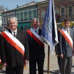 Poczet sztandarowy Rady Miasta, 2001 r. fot.: z arch. Jerzego Leśnniaka