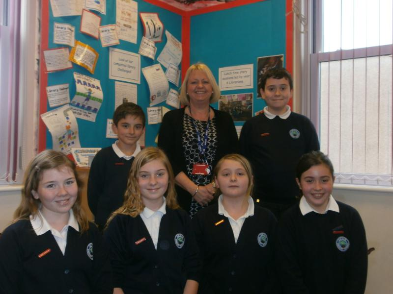 Library Prefects & Mrs Hughes 2