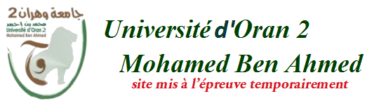 Université d'Oran 2 - Mohamed Ben Ahmed