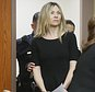 """This photo taken Feb. 14, 2013, shows Amy Locane Bovenizer entering the courtroom to be sentenced in Somerville, N.J. The former ¿Melrose Place¿ actress who was convicted for a fatal drunken driving crash in 2010 faces a re-sentencing after the state appealed her initial sentence as too lenient. A state appeals court on Friday, July 22, 2016, ruled the trial judge must offer a more detailed justification for why he downgraded Locane-Bovenizer¿s sentence to three years. Locane-Bovenizer appeared in 13 episodes of TV's """"Melrose Place"""" and in movies including """"Cry-Baby,"""" """"School Ties"""" and """"Secretary. (AP Photo/The Star-Ledger, Patti Sapone, Pool)"""