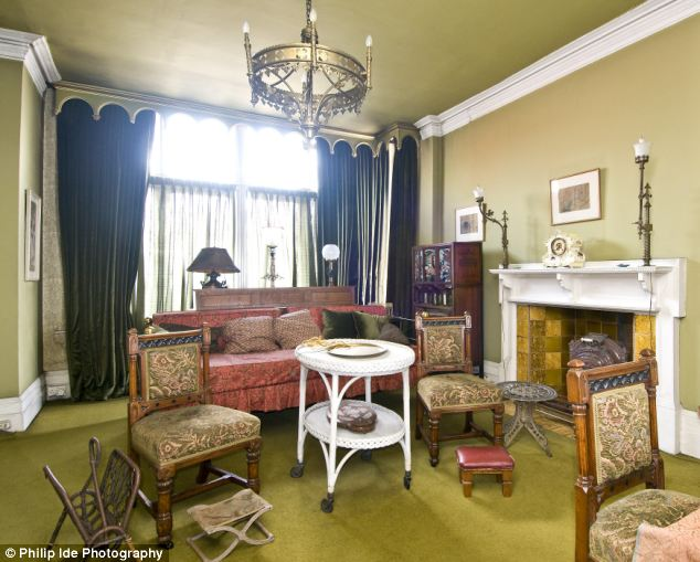 Inspirational: The reception room in the house on Artists' Row, home of painters