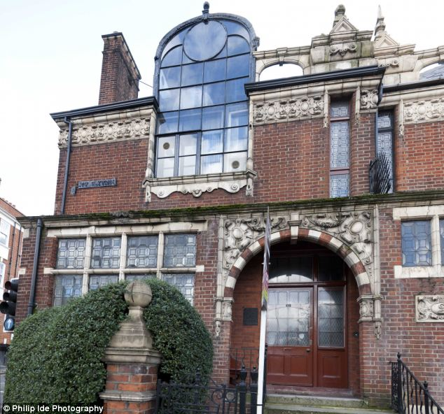 Let there be light: The double-height windows on the top floor was built specifically to suit 'bachelor artists' and allow sunlight to flow into the studio