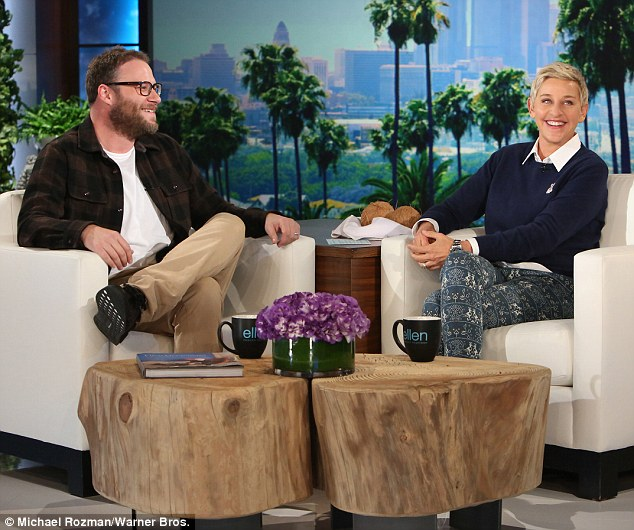 Charmed! Rogen and Ellen shared some laughs during their chat