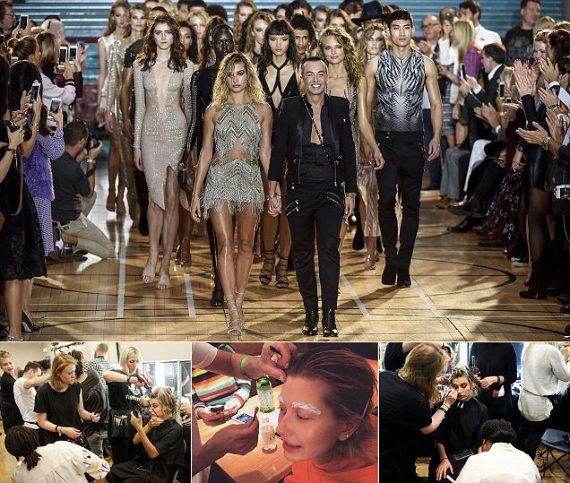 Hailey Baldwin leads the charge at Julien Macdonald's LFW SS17 show