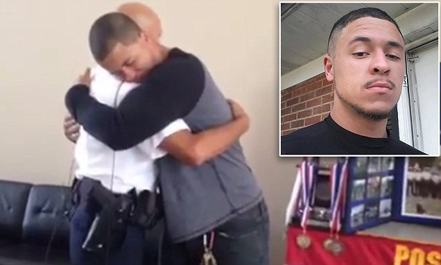 Ohio man who nearly drowned 19 years ago surprises police officer in teary reunion