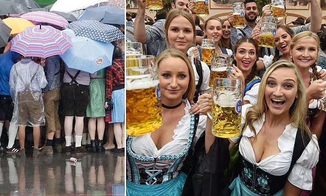 Soggy start to Oktoberfest as six million revellers are expected to make their way to