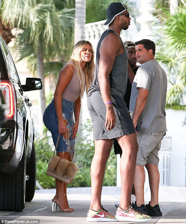 Star power:Khloe hit the pavement in Kanye West's Yeezy Season Two Lucite heels, which retails for $595