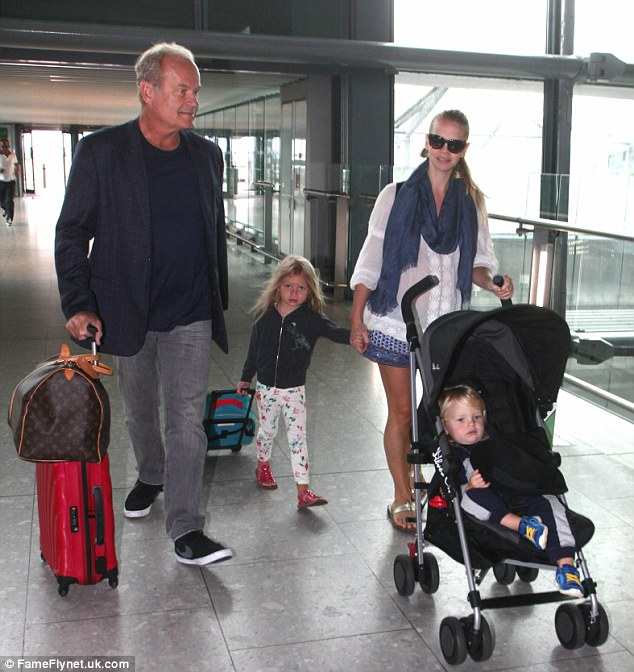 Expanding: The family's appearance comes after it was confirmed they are expecting their third baby together- Kelsey's seventh child