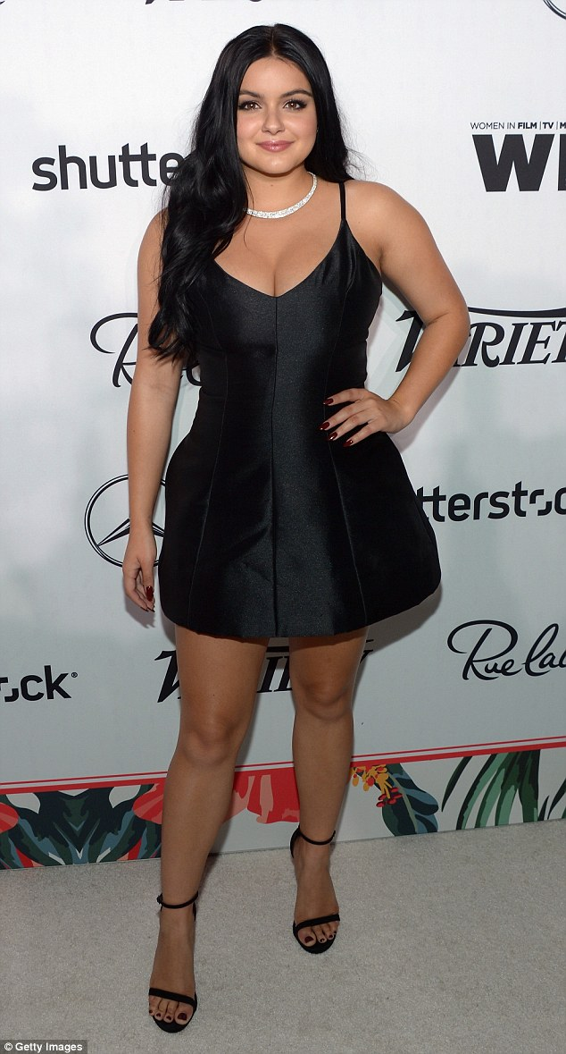 Leggy display: Ariel Winter attended the Variety and Women in Film Pre-Emmy Celebration at Gracias Madre restaurant on Friday in West Hollywood, California