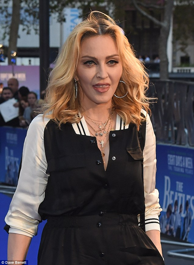 Quite the guestlist: Madonna was just one of the big names at the event which included Liam Gallagher, Bob Geldof and Stella McCartney