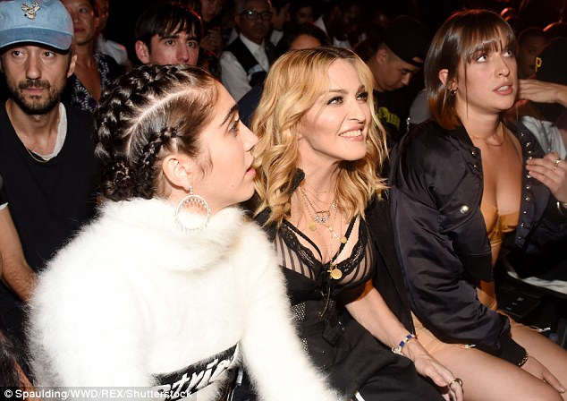 What a show! Eyes glued to the catwalk, Madonna and Lourdes were clearly riveted to the show