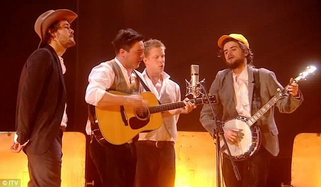 ... but lost out on the British Album gong to Mumford & Sons, who performed an acoustic version of Timshel, from Sigh No More