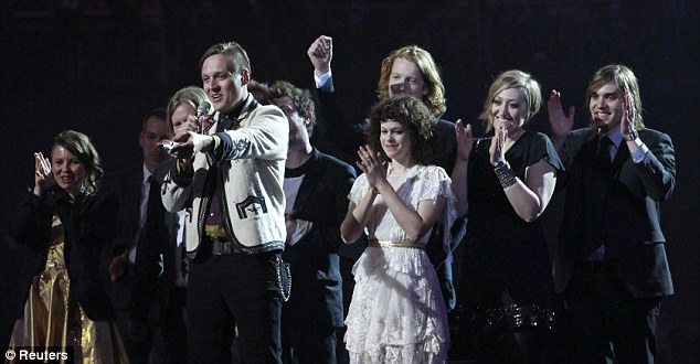 Claps for the Canadians: Rockers Arcade Fire won the awards for International Group and International Album